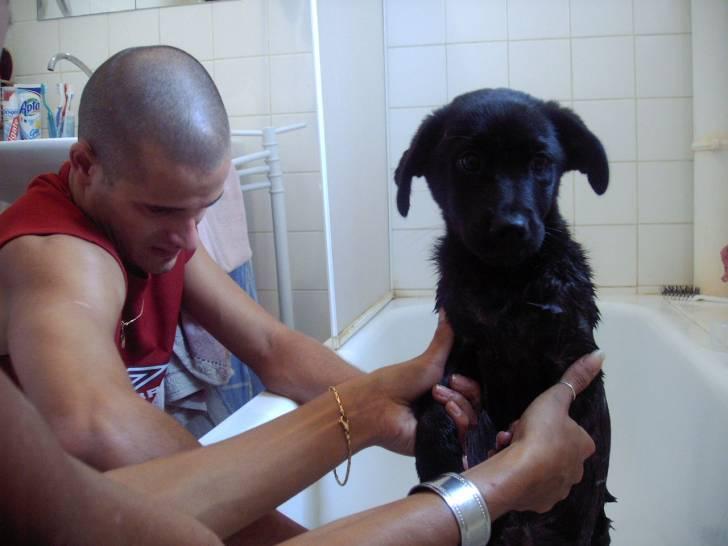 A la douche!!! -