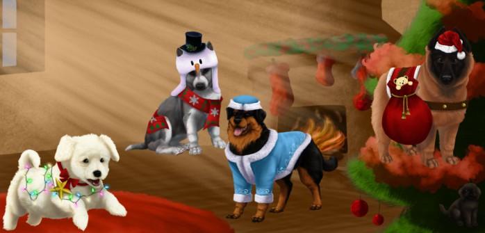 Offrez à vos chiens une robe exclusive spécial Noël !