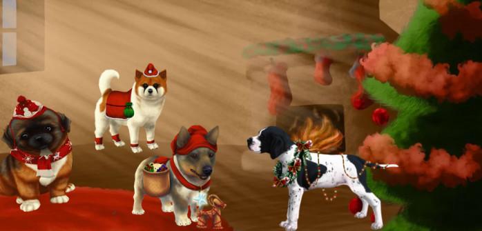 Mettez vos chiens dans l'ambiance de Noël avec des robes exclusives !